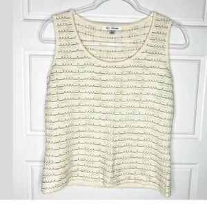 St John Santana knit sleeveless top